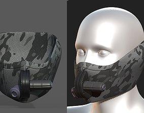 Gas mask helmet scifi fantasy armor hats 3D asset