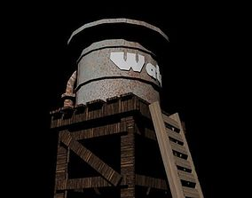 Water Tank 3D model architectural