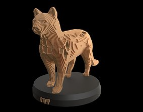 3D model Parametric Cat nature