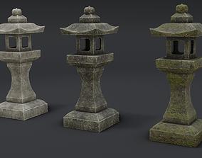 Japanese Stone Lanterns 3D