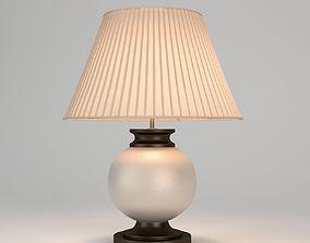 3D model Chelsom Ceramic Art Ivory Crackle Table Lamp