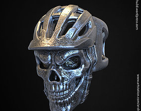 3D print model Biker Helmet skull vol2 ring pendant