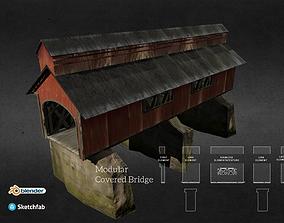 3D model Modular Covered Bridge 3