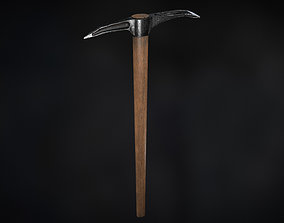 game-ready Pickaxe PBR Low-poly 3D model