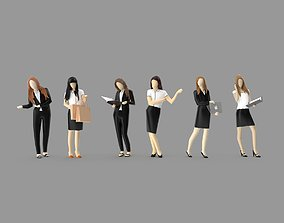 3D model Low Poly Business Woman Pack