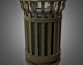 Trash Bin 1 - PBR Game Ready model 3D asset