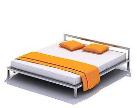 Modern Metal Bed 3D