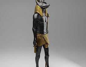 3D asset Anubis Soldier Statue for VFX and Games