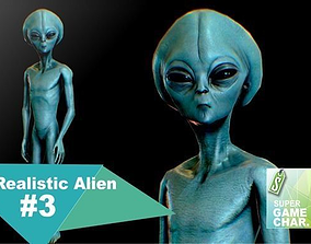 Realistic Alien 3 3D asset animated