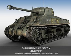 3D model Sherman MK VC Firefly - Rycerz I