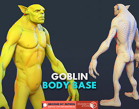 3D asset low-poly Character - Goblin Body Base