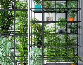 3D model Wall Grid Plants Pot 7