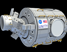 Unity Node 1 ISS International Space Station 3D