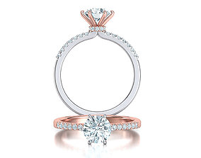 Engagement ring 1CT stone Six-prong Solitaire ring