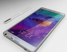 Samsung Galaxy Note 4 White 3D