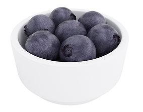 Blueberry bowl 3D model