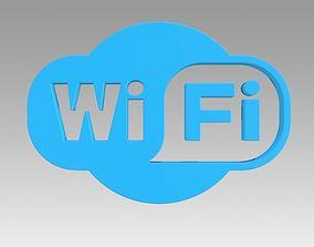 Wifi wireless internet logo 3D wifi