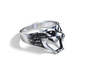 Silver Tiger Ring 3D model