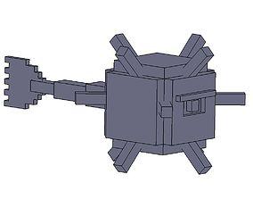 3D print model Minecraft Guardian