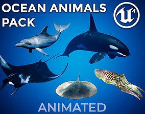 3D model animated Ocean Animals Pack UE4 - Vol 1