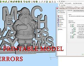 Santa Claus Merry Christmas 3D printable model