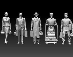 3D print model railroad passengers