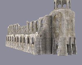 Ruined cistercian abbey 3D model