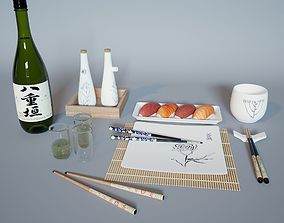 3D model Sushi Set