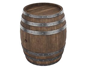 3D asset Medieval Wine Barrel