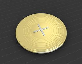 Cross Medallion 3D print model christian coin