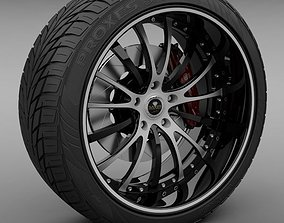 3D model Savini Forged SV-15 Wheel and Tire