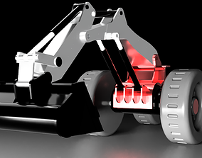 3D printable model construction Excavator