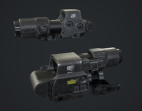 HOLO XPS3 with G33 MAGNIFIER 3D asset