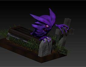 ghost 3D printable model Haunter realistic Pokemon