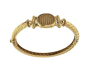 3D print model Miami cuban bracelet