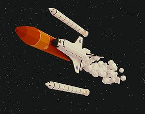 3D asset Space Shuttle Low Poly