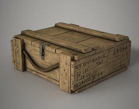 3D asset Grenade Crate M67
