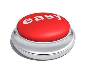 Easy Button 3D model