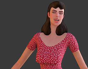 3D model Vintage Fifties Style Girl
