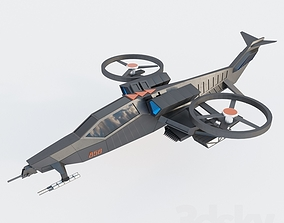 aircraft air helicopter 3D