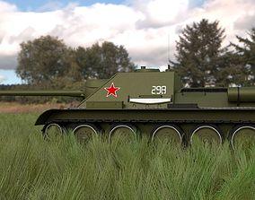SU 100 Tank Destroyer HDRI 3D model