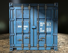 Shipping Container Low Poly PBR 3D asset