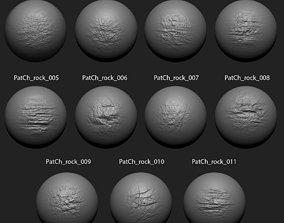 3D model Zbrush Alpha Pack Rock Set1 for Free