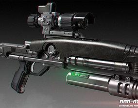 BR8-A1 Wolverine Blaster Rifle 3D printable model