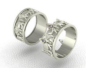 Ring Elephant mammal 3D printable model