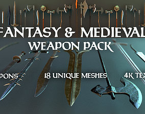 3D model Fantasy and Medieval Weapon Pack