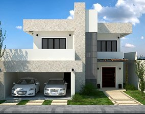 House SketchUP modeling and 3Ds MAX finishing