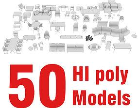 3D FURNITURE PACK 50 models