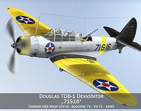 carrier Douglas TDB-1 Devastator - 71S16 3D model
