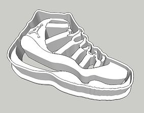 3D print model Jordan 11 Kicks Cookie Cutter 2 inches 1